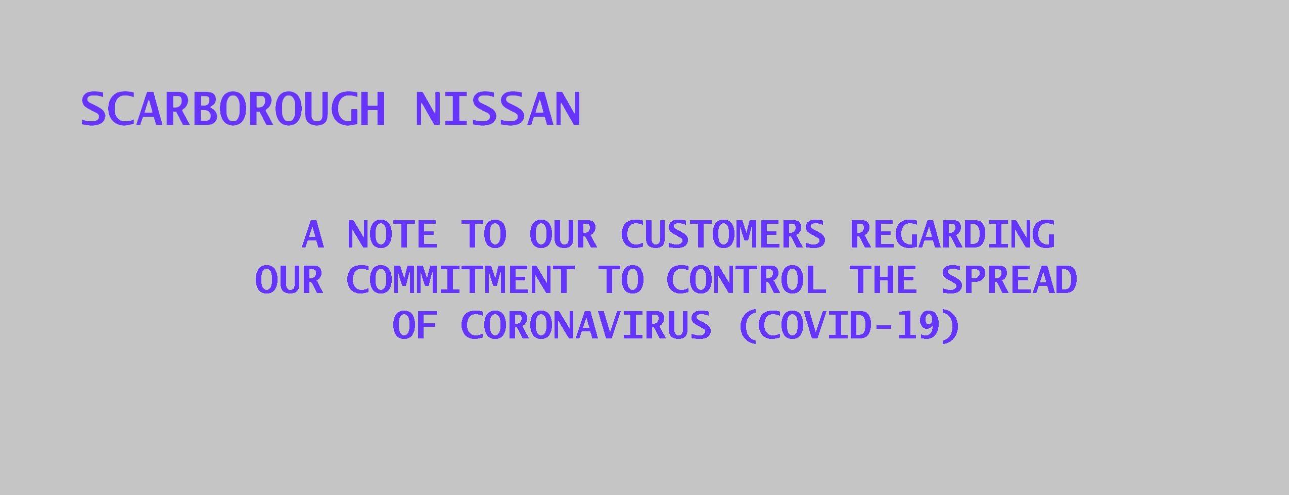 SCARBOROUGH NISSAN COVID-19 CONTROL SPREAD